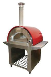 New Brunello Rosso Bakery Restaurant Equipment Portable Wood Fired Pizza Oven