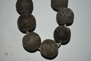 Orig 1099 Mega Pre Columbian Mayan Stone Necklace 12in Prov