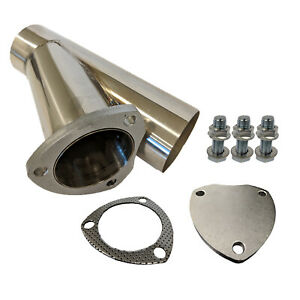 Proflow Eypss25 Stainless Cut Out Y Pipe 2 5 With Cap Gasket Bolts 10 Overa