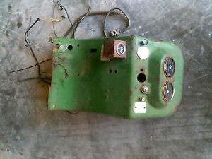 Oliver 770 Rowcrop Tractor Dash W Gauges Serial Number Tag Choke Cable Switch