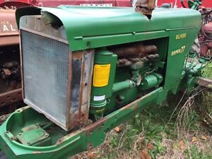 Oliver Super 77 Tractor Good Ol Engine Motor Radiator Assembly W Cap