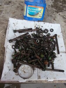 Styled John Deere B Tractor Jd Original Box Of Nuts Bolts Parts Pieces