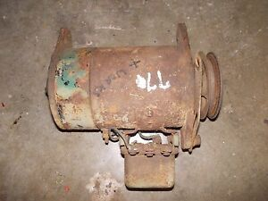 Oliver 77 Tractor Good Working 6v Generator W Belt Pulley Tension Bracket