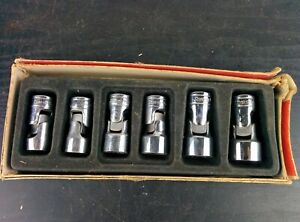 ad341 Snap On 3 8 Drive 6pc Sae Shallow Swivel Socket Set 206afs 7 16 To 3 4