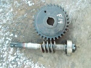 Farmall F14 F12 Tractor Original Ih Steering Short Shaft Worm Sector Gear