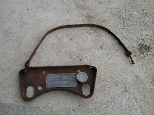 Farmall F12 Tractor Original Ih Gas Tank Mounting Bracket Strap Good Tag