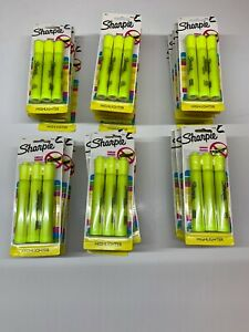 Lot Of 29 87 Total Sharpie Fluorescent Yellow Highlighters Markers 3 Packs