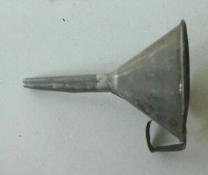 Vintage Small Tin Metal Funnel Primitive Hand Crafted Ornament 2 3 4
