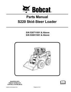 New Bobcat S220 Parts Manual 6904243 Free Shipping