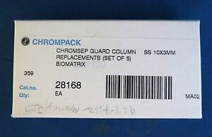 Pack 5 Chrompack Chromsep Guard Columns Biomatrix 10x3mm 28168