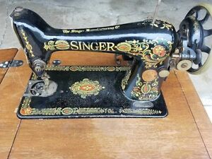 1919 Singer 66 Red Eye Treadle Sewing Machine