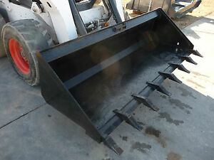 Bobcat Skid Steer Attachment 84 Low Profile Tooth Dirt Bucket Ship 149