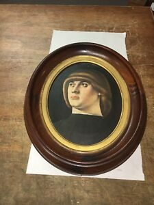 Antique Oval Frame Walnut And Gilt For Picture Photo Painting