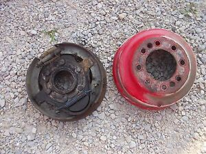 Ford 8n Tractor Original Inner Right Hub Brake Assembly W Band