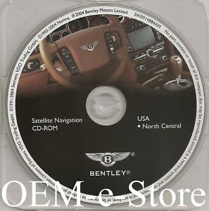 2004 2006 Bentley Continental Gt Flying Spur Gps Navigation Cd North Central Map