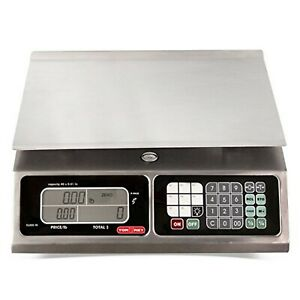 Torrey Lpc40l Electronic Price Computing Scale Rechargeable Battery Stainle