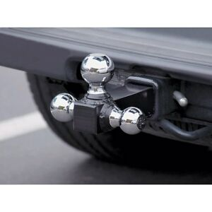 3 Triple Ball Trailer Hitch Mount For 2 Receiver Tow
