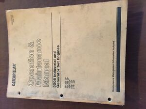 Caterpillar Cat 3208 Generator Engine Industrial Maintenance Manual Operation
