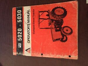 Allis Chalmers Allis chalmers 5020 5030 Operator Operator s Tractor Manual
