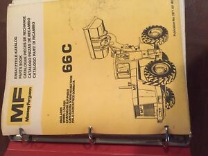 Massey Ferguson 66c Wheel Loader 66 Tractor Parts Book Catalog Manual