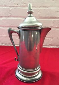 Antique Vintage Pairpoint Quadruple Plated Pitcher W Hinged Lid Silver
