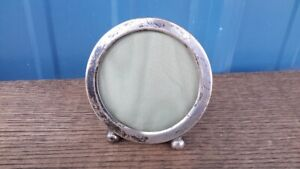 Vintage Gorham Sterling Silver Small Round Picture Frame 306r Model