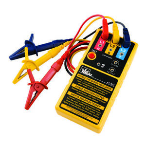 Ideal Electrical 61 521 3 Phase Motor Rotation Tester 600v carry Case