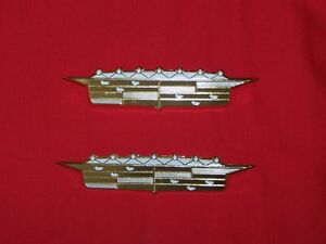 1956 56 Cadillac Front Fender Emblems Badge Crest Pair