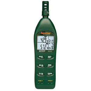 Extech Rh350 Dual Input Hygro thermometer Psychrometer With Type K