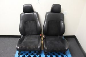 Jdm 1997 2001 Honda Prelude Leather Seat Set With Cloth Center And Rear Bench