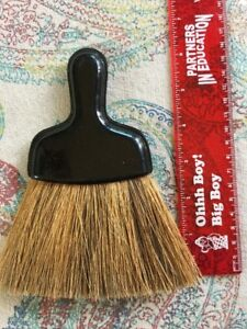 Primitive Horse Hair Wisk Broom With Plastic Handle
