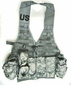 FS Military Tactical ACU Camo Molle II FIGHTING LOAD CARRIER VEST 9 POUCHES $94.05