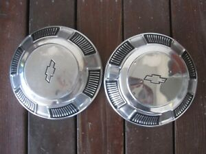 1968 1969 1970 Chevrolet Belair Impala Biscayne Dog Dish Hubcap A Pair