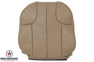 1999 Jeep Grand Cherokee Laredo Driver Side Lean Back Leather Seat Cover Tan