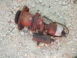 Farmall H M Ih Tractor Engine Motor Distributor W Drive Assembly
