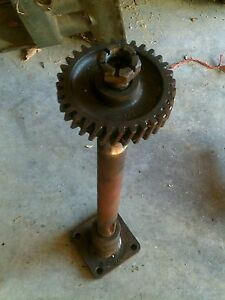 Farmall H Sh Tractor Ih Steering Main Frontend Bolster Shaft Whole Sector Gear