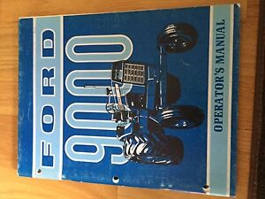 New Holland Ford Operator Tractor Manual 9000 Operator s 9000