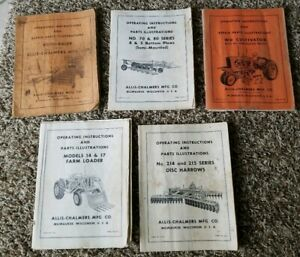 5 Allis Chalmers Tractor Disc Plow Loader Baler Cultivator Service Repair Manual