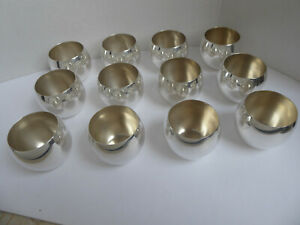 Set Of Twelve Vintage Sterling Silver Jefferson Cups By Poole