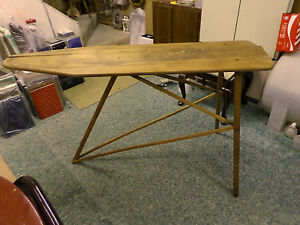 2139d Vtg National Washboard Co Ironing Board Laundry Board Top Is Split