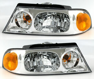 For 1998 1999 2000 2001 2002 Lincoln Navigator Headlight Headlamp Pair Set