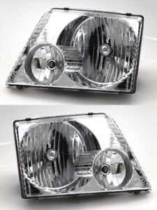 For 2002 2003 2004 2005 Ford Explorer Headlight Headlamp Pair Set Replacement
