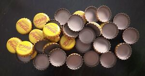 MEXICO lot of 42 Coca Cola bottle caps red; mexican Kronkorken crown modern