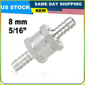 8mm 5 16 Aluminium Fuel Line One Way Non Return Check Valve Petrol Diesel Oil