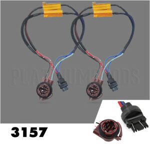 2pcs 3157 4157 Load Resistor Pre Wired Fix Hyper Flash For Led Turn Signal Light