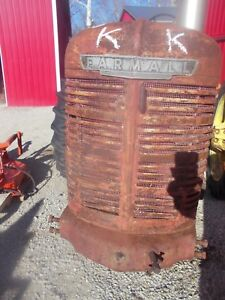 1939 40 Farmall H Hv Tractor Nice Factory Ih Ihc Front Nose Cone Grill W Insert