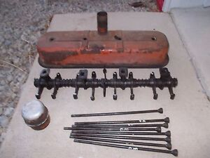 Allis Chalmers Wd Wd45 Wc Tractor Ac Engine Rocker Arm Assembly Push Rods