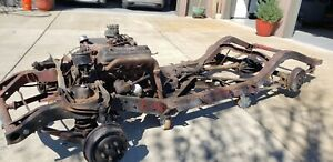 1955 1956 57 Thunderbird Frame Complete Rolling Chassis Engine Transmission Rear