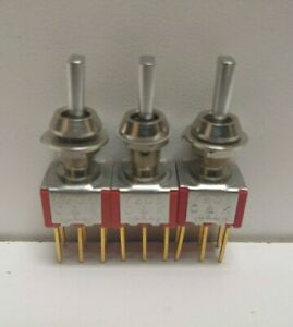Lot Of 6 New Old Stock C k 3 position Center Return Toggle Switches 7005