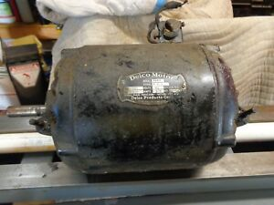 Delco Electric Motor For Atlas Craftsman Lathes Mills Other Power Equipment